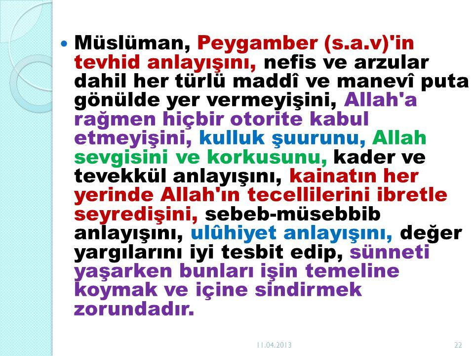 Müslüman, Peygamber (s. a