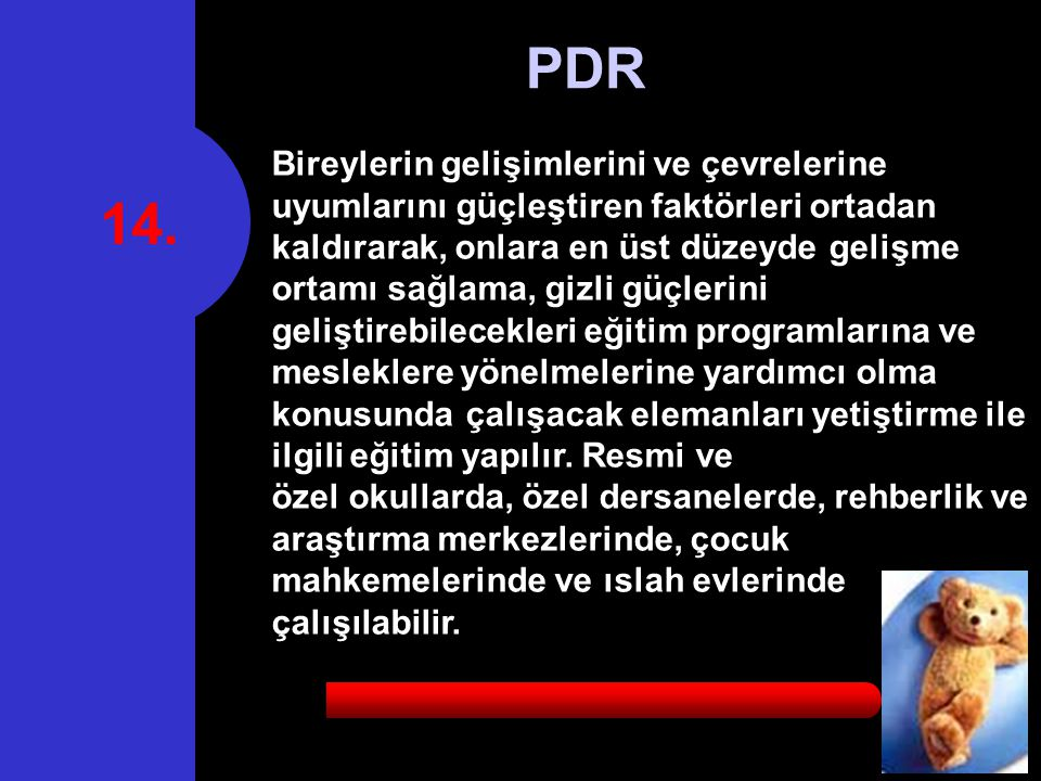 14. PDR.