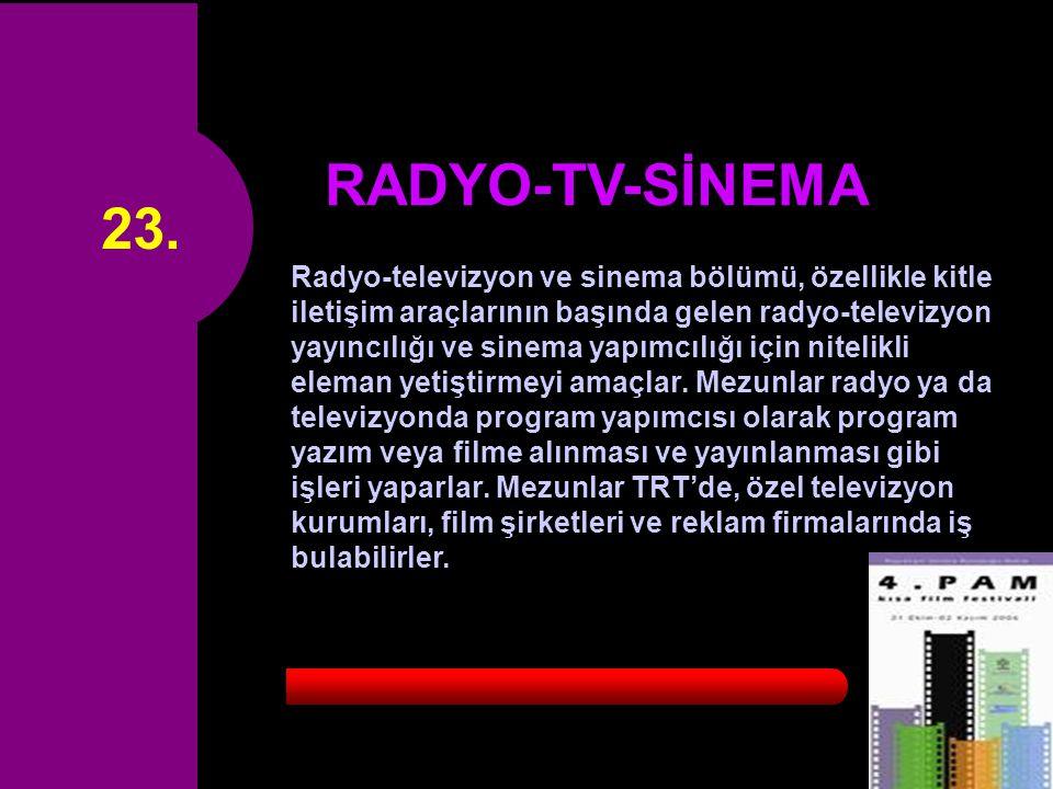 23. RADYO-TV-SİNEMA.