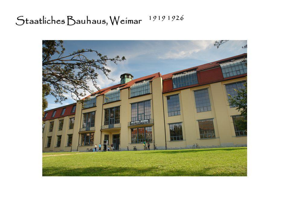 Staatliches Bauhaus, Weimar