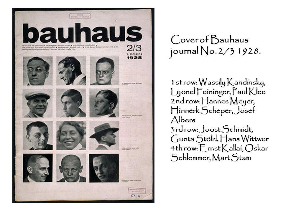 Cover of Bauhaus journal No. 2/3 1928