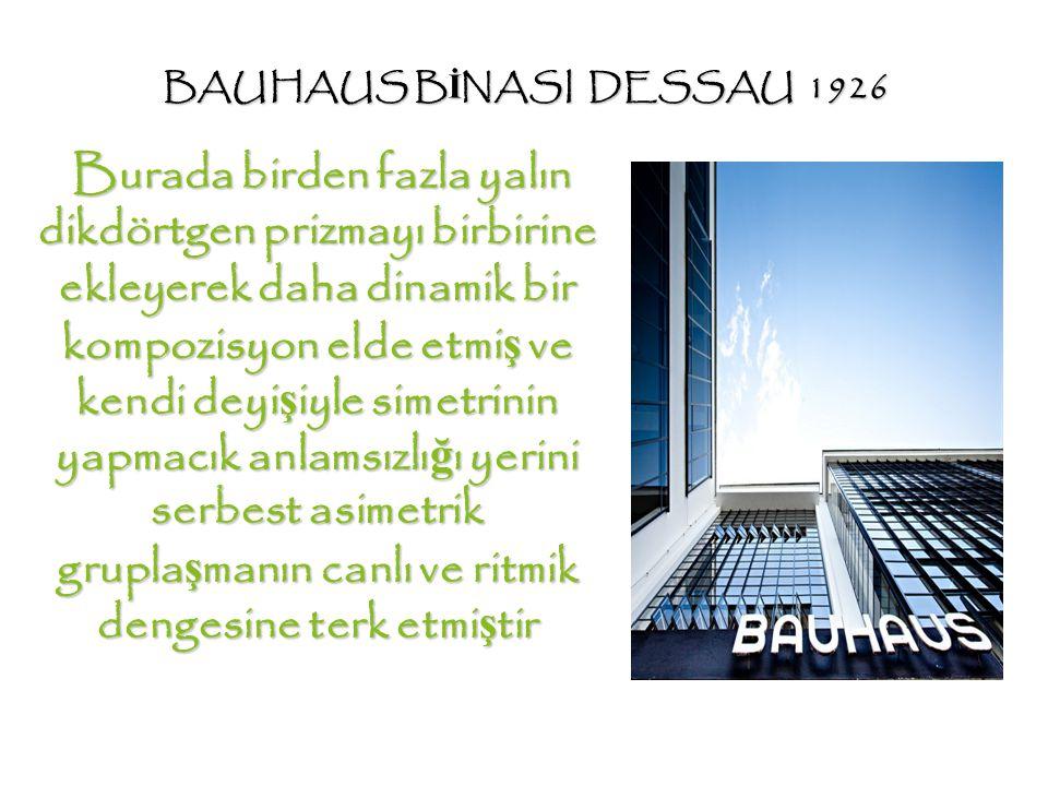 BAUHAUS BİNASI DESSAU 1926