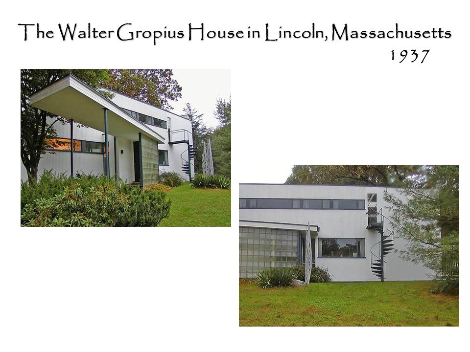 The Walter Gropius House in Lincoln, Massachusetts