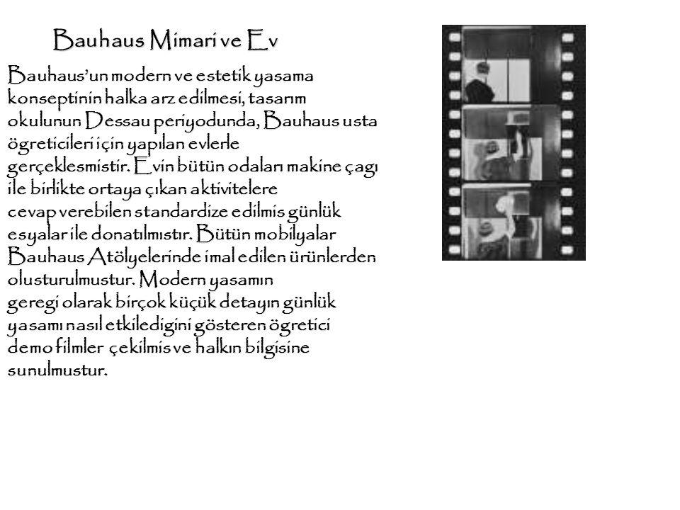 Bauhaus Mimari ve Ev Bauhaus'un modern ve estetik yasama konseptinin halka arz edilmesi, tasarım.