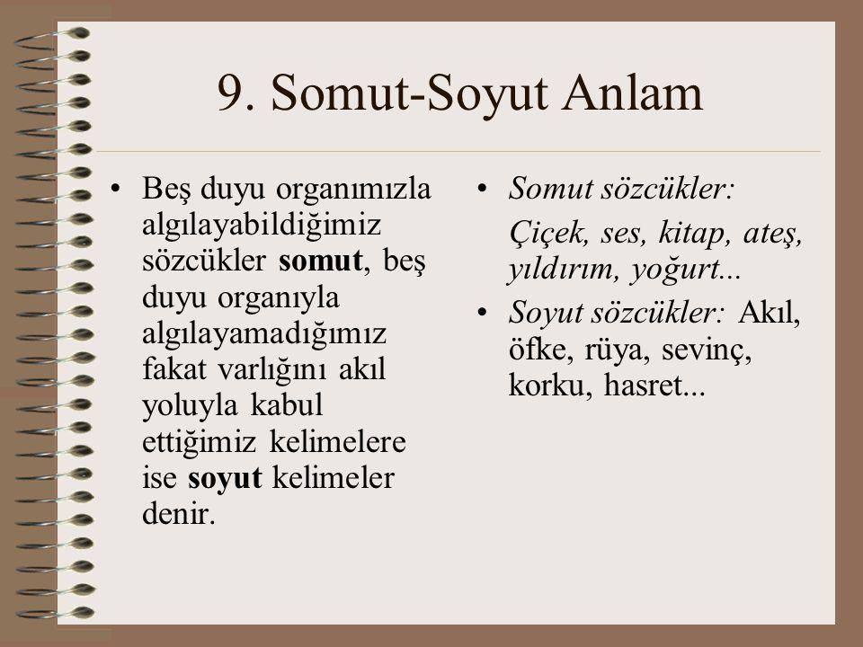 9. Somut-Soyut Anlam