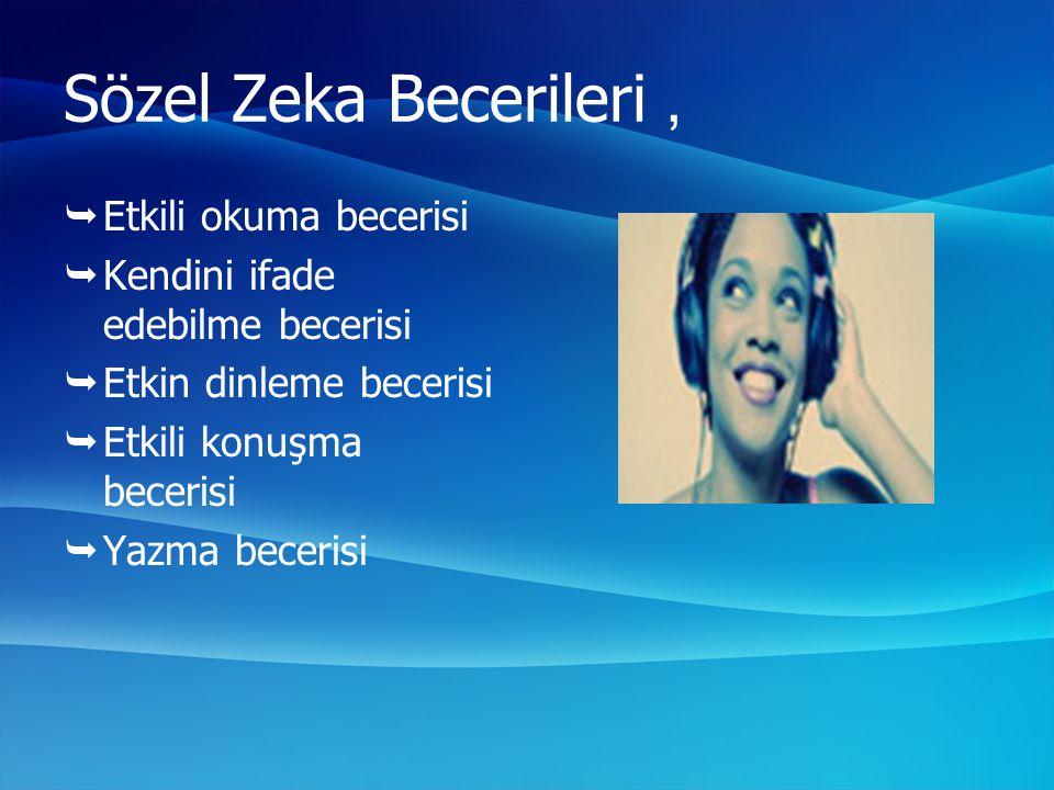 Sözel Zeka Becerileri , Etkili okuma becerisi