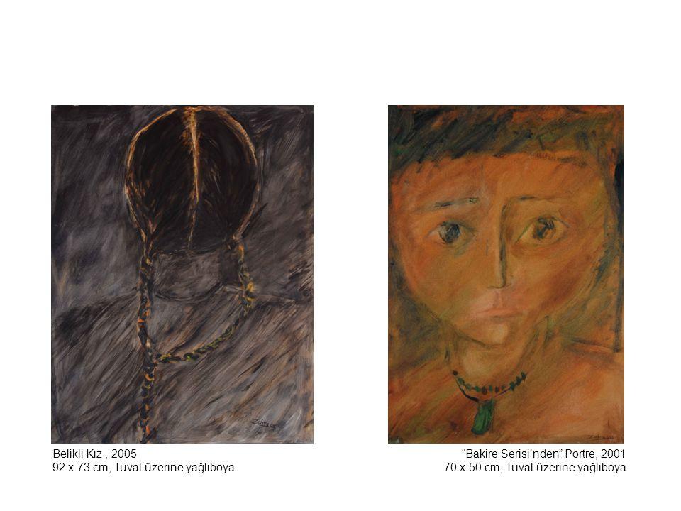 Belikli Kız , 2005 92 x 73 cm, Tuval üzerine yağlıboya.