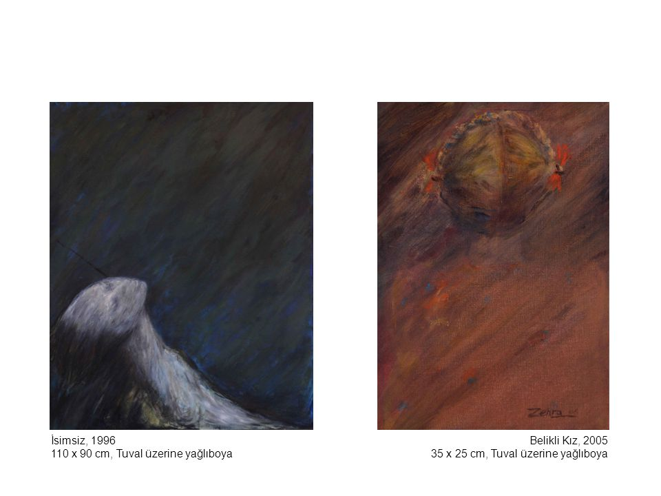 İsimsiz, 1996 110 x 90 cm, Tuval üzerine yağlıboya.