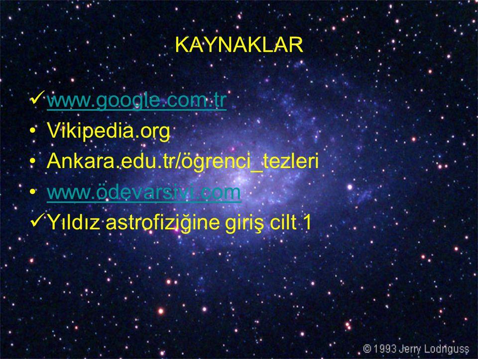 KAYNAKLAR www.google.com.tr. Vikipedia.org. Ankara.edu.tr/ögrenci_tezleri.