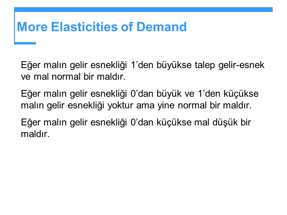 More Elasticities of Demand