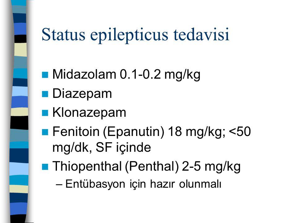 Status epilepticus tedavisi