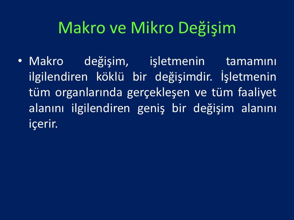 Makro ve Mikro Değişim