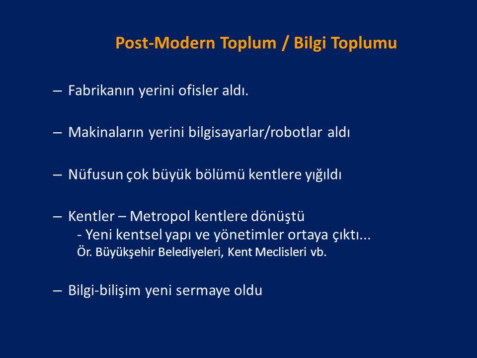 Post-Modern Toplum / Bilgi Toplumu