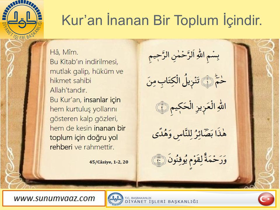 Kur'an İnanan Bir Toplum İçindir.