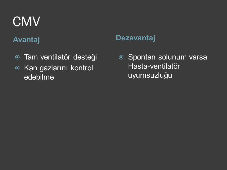 CMV Dezavantaj Avantaj Tam ventilatör desteği