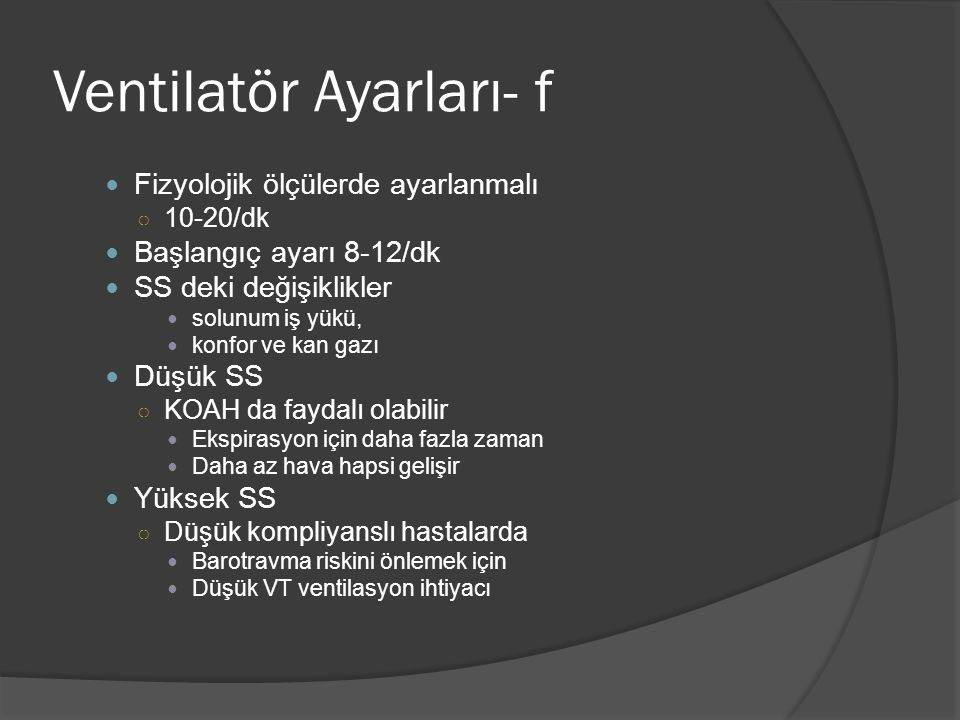 Ventilatör Ayarları- f