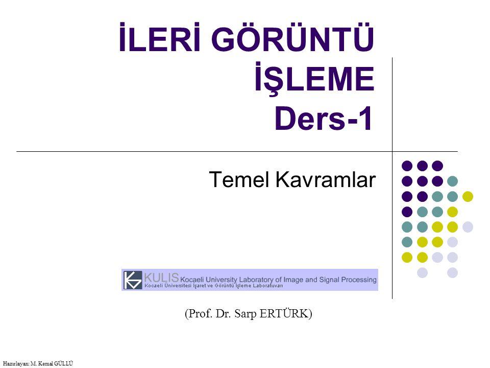 İLERİ GÖRÜNTÜ İŞLEME Ders-1