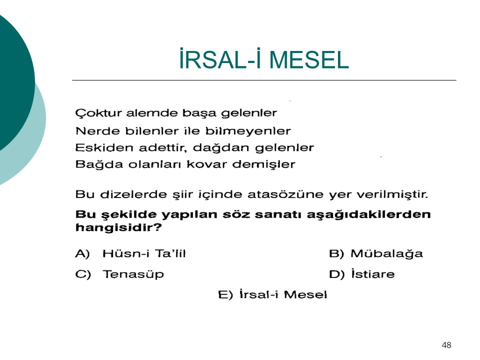 İRSAL-İ MESEL