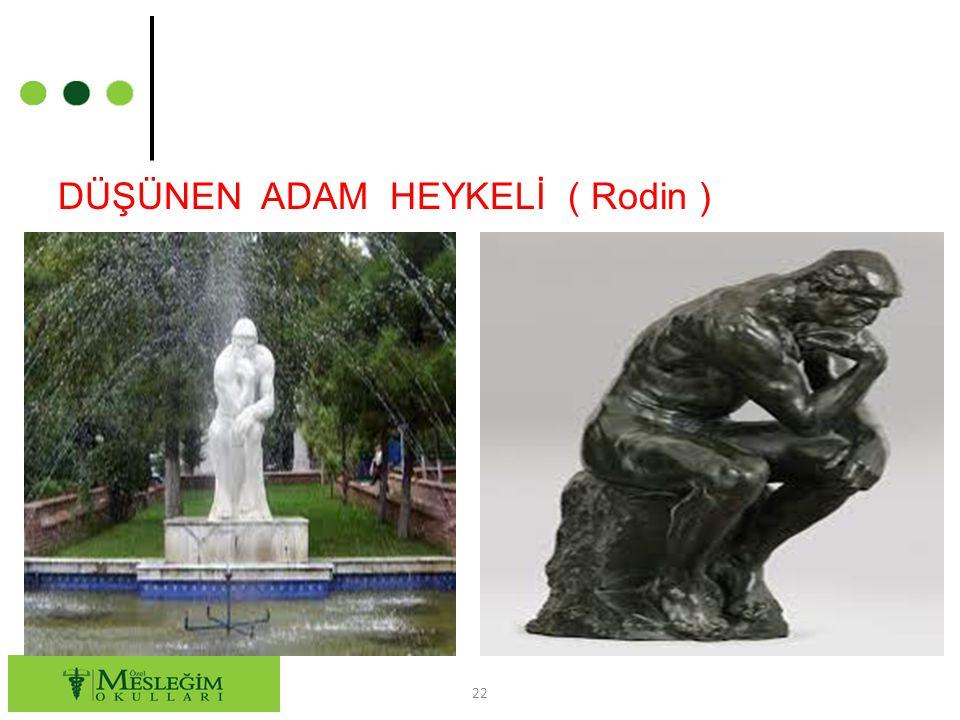 DÜŞÜNEN ADAM HEYKELİ ( Rodin )