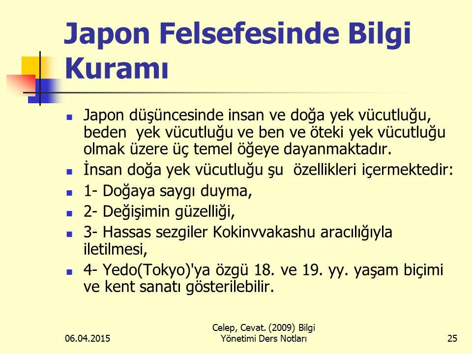 Japon Felsefesinde Bilgi Kuramı