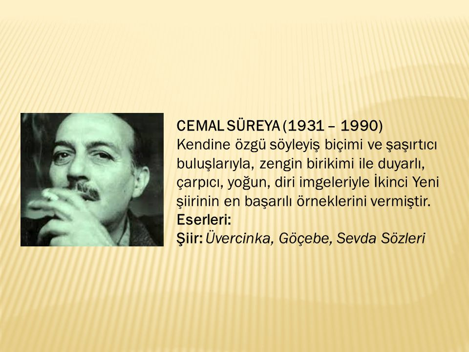 CEMAL SÜREYA (1931 – 1990)