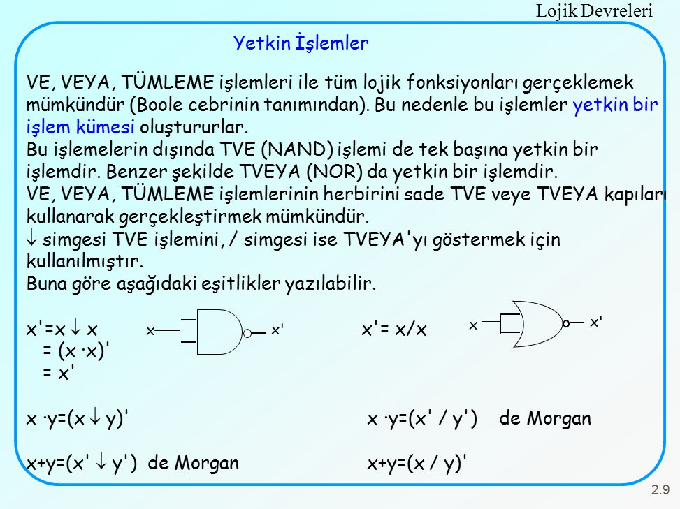 Buna göre aşağıdaki eşitlikler yazılabilir. x =x  x x = x/x = (x ·x)