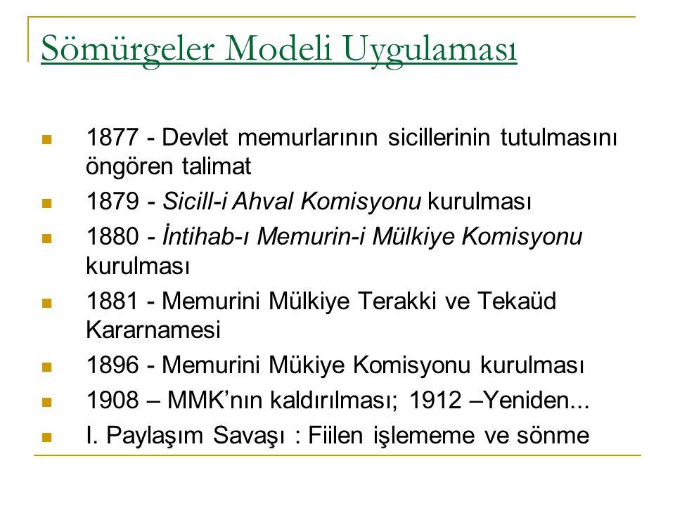Sömürgeler Modeli Uygulaması