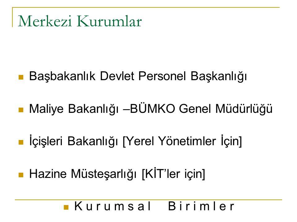 Merkezi Kurumlar Başbakanlık Devlet Personel Başkanlığı