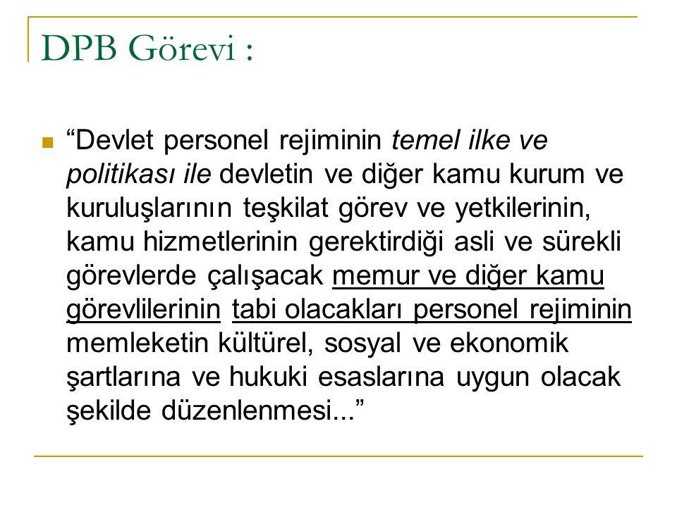 DPB Görevi :