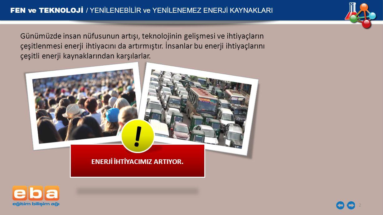 ENERJİ İHTİYACIMIZ ARTIYOR.