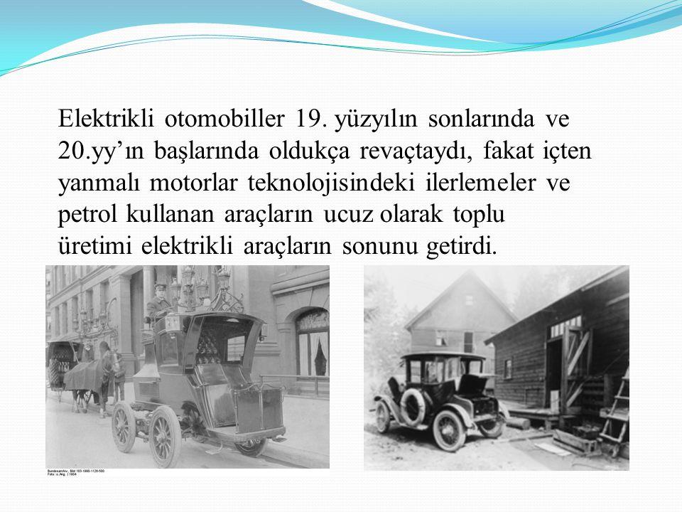 Elektrikli otomobiller 19. yüzyılın sonlarında ve 20