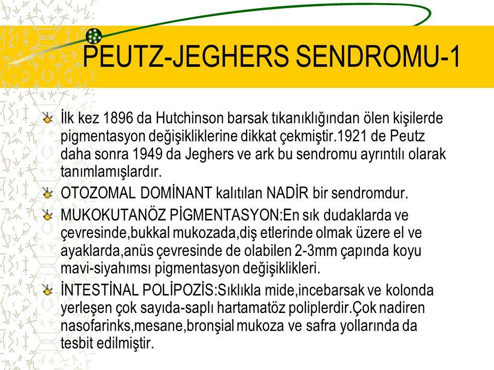 PEUTZ-JEGHERS SENDROMU-1