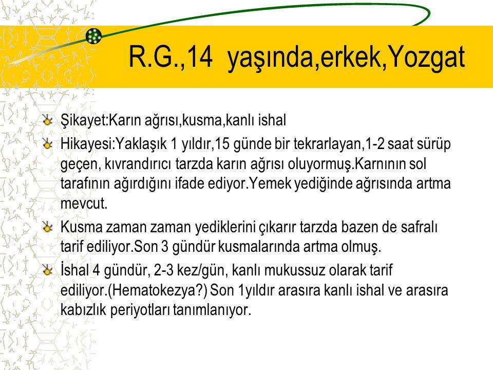 R.G.,14 yaşında,erkek,Yozgat