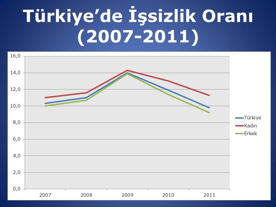 Türkiye'de İşsizlik Oranı (2007-2011)