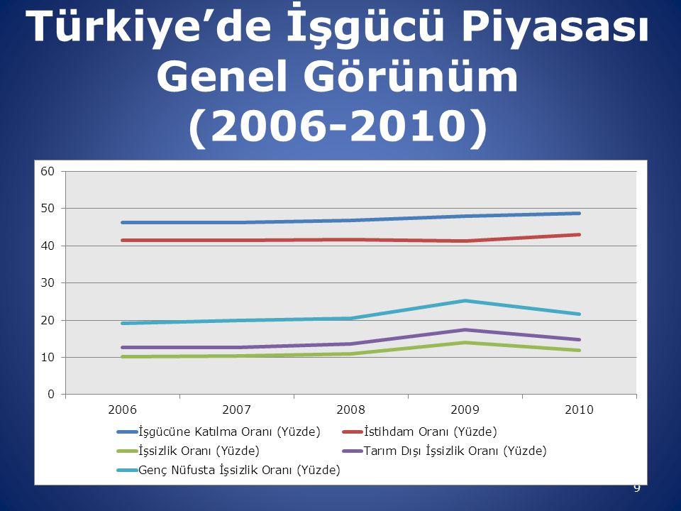 Türkiye'de İşgücü Piyasası Genel Görünüm (2006-2010)