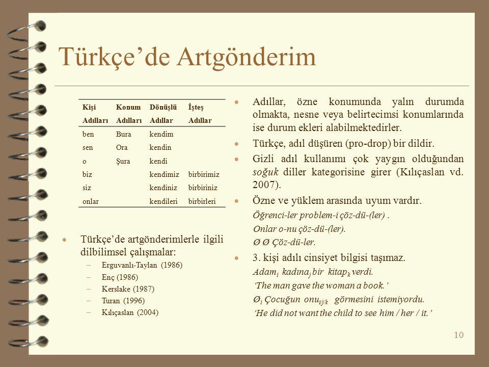 Türkçe'de Artgönderim