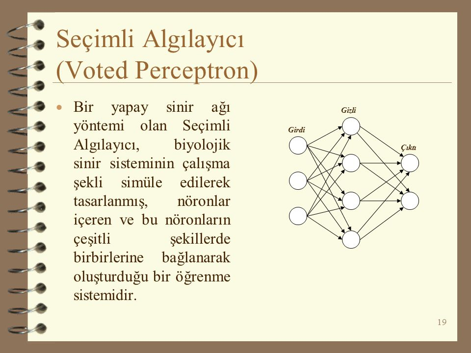Seçimli Algılayıcı (Voted Perceptron)