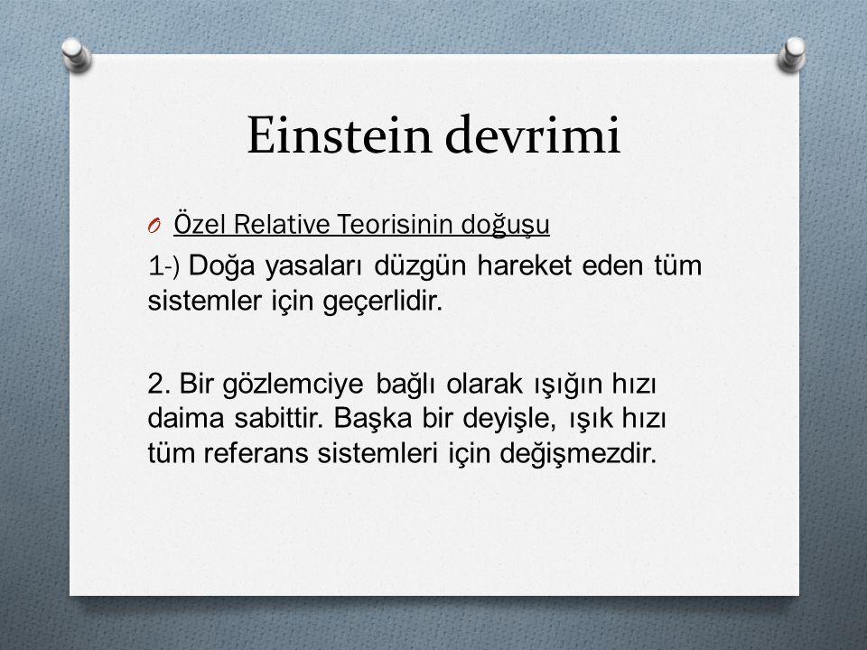 Einstein devrimi Özel Relative Teorisinin doğuşu