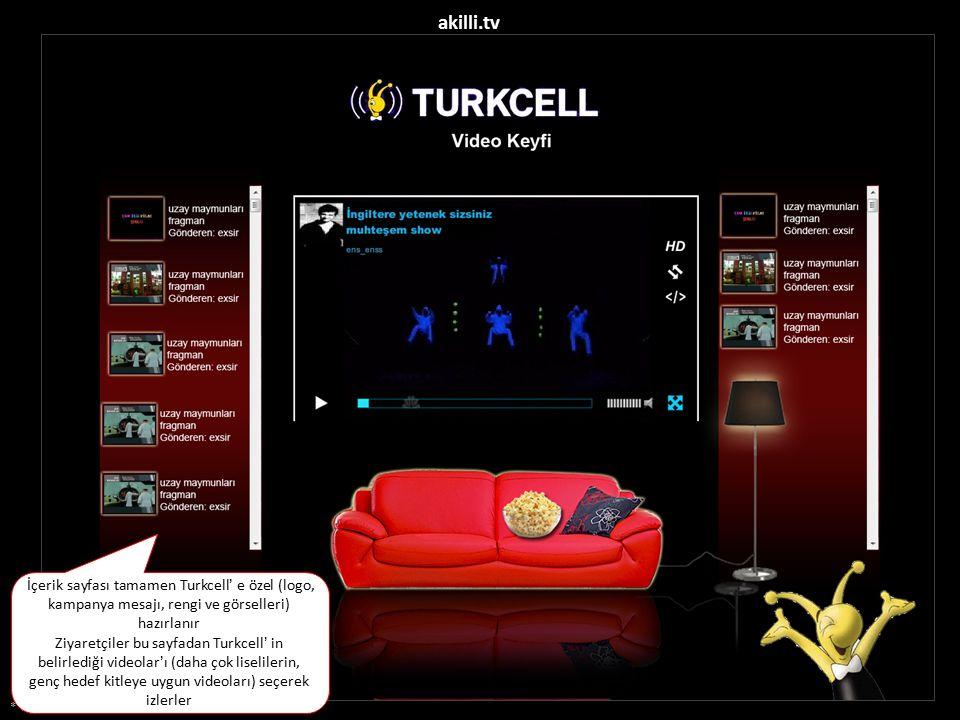 akilli.tv İçerik sayfası tamamen Turkcell' e özel (logo, kampanya mesajı, rengi ve görselleri) hazırlanır.