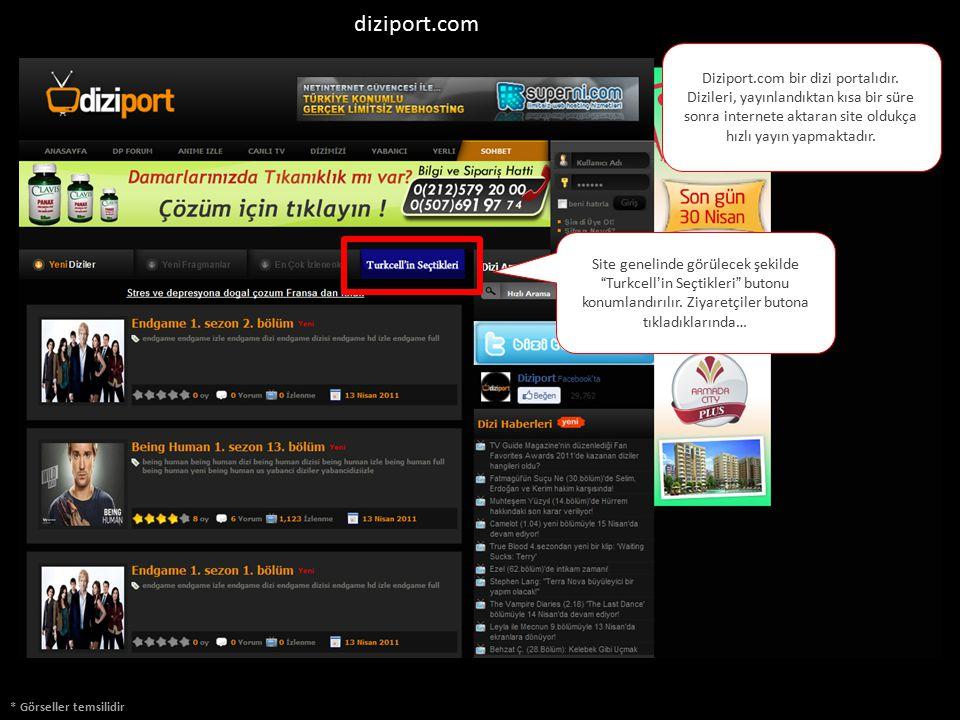 diziport.com Diziport.com bir dizi portalıdır. Dizileri, yayınlandıktan kısa bir süre sonra internete aktaran site oldukça hızlı yayın yapmaktadır.