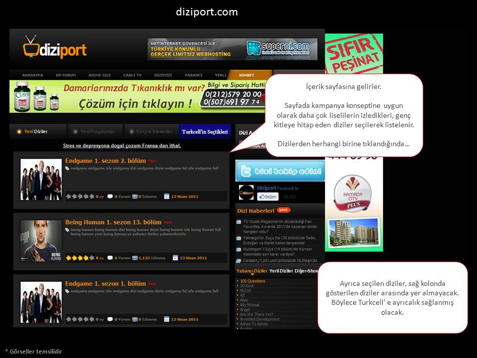 diziport.com İçerik sayfasına gelirler.