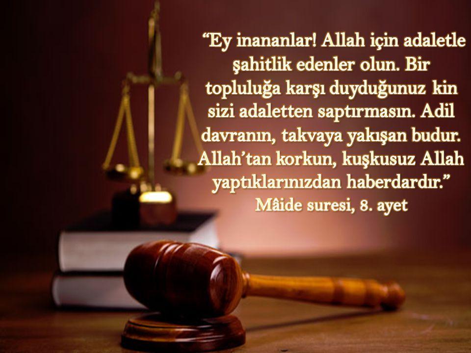 Ey inananlar. Allah için adaletle şahitlik edenler olun