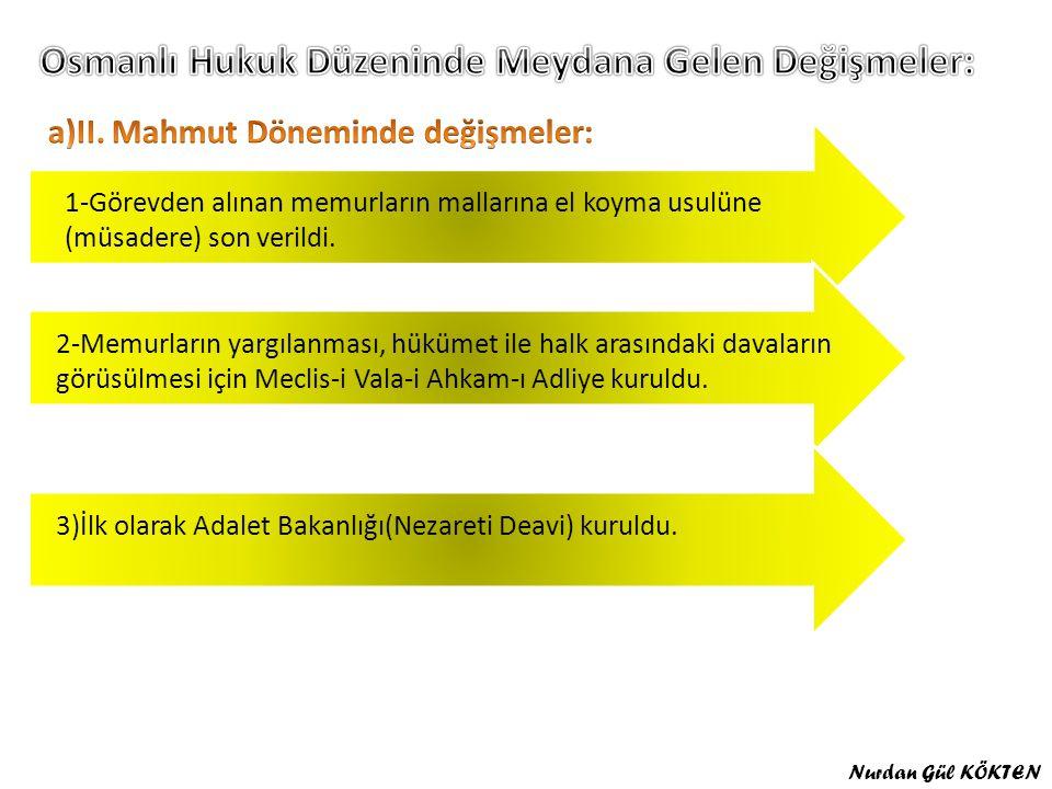 Osmanlı Hukuk Düzeninde Meydana Gelen Değişmeler: