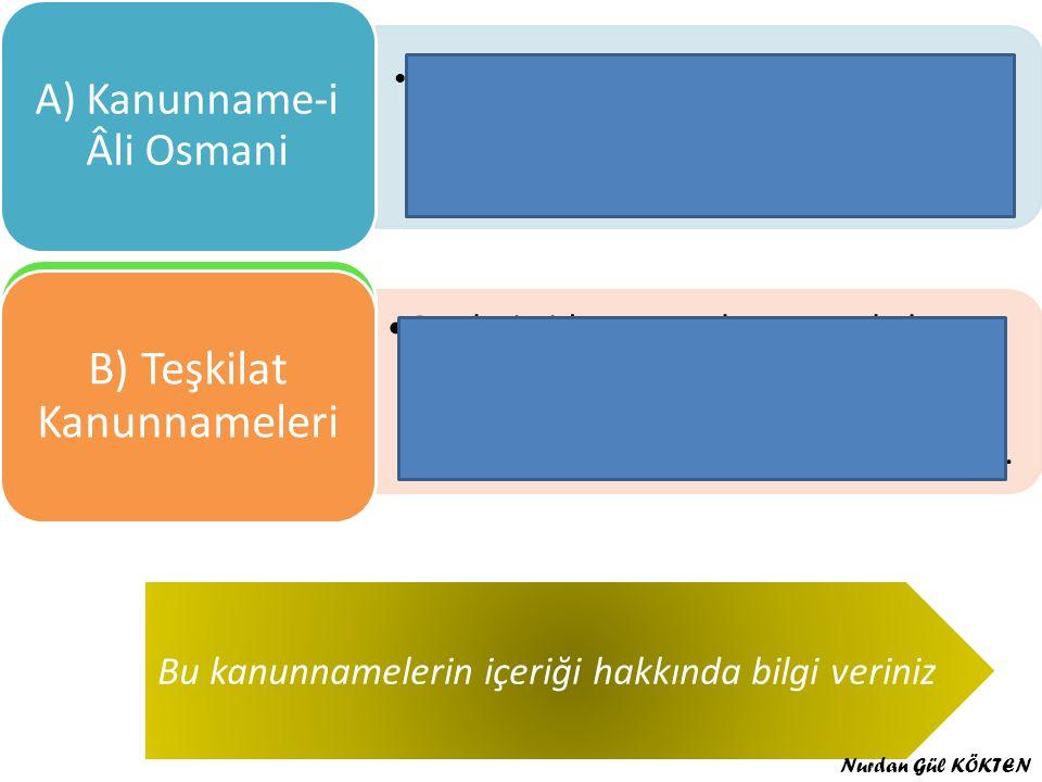 A) Kanunname-i Âli Osmani