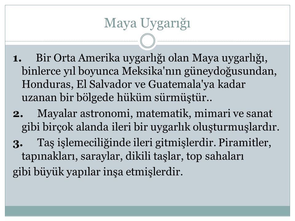Maya Uygarığı