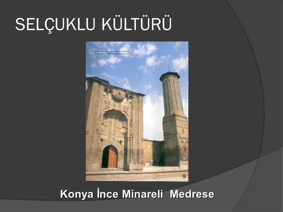 Konya İnce Minareli Medrese