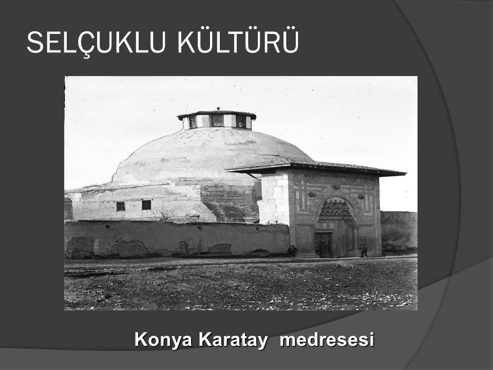 SELÇUKLU KÜLTÜRÜ Konya Karatay medresesi