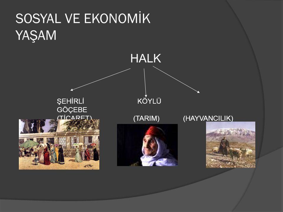 SOSYAL VE EKONOMİK YAŞAM