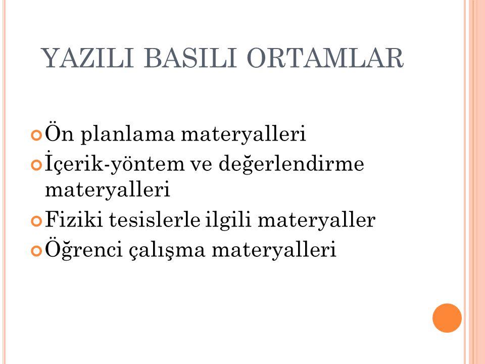 YAZILI BASILI ORTAMLAR