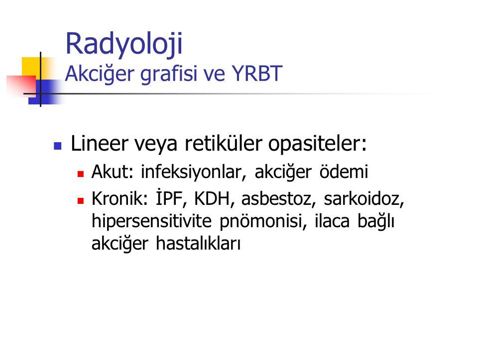Radyoloji Akciğer grafisi ve YRBT